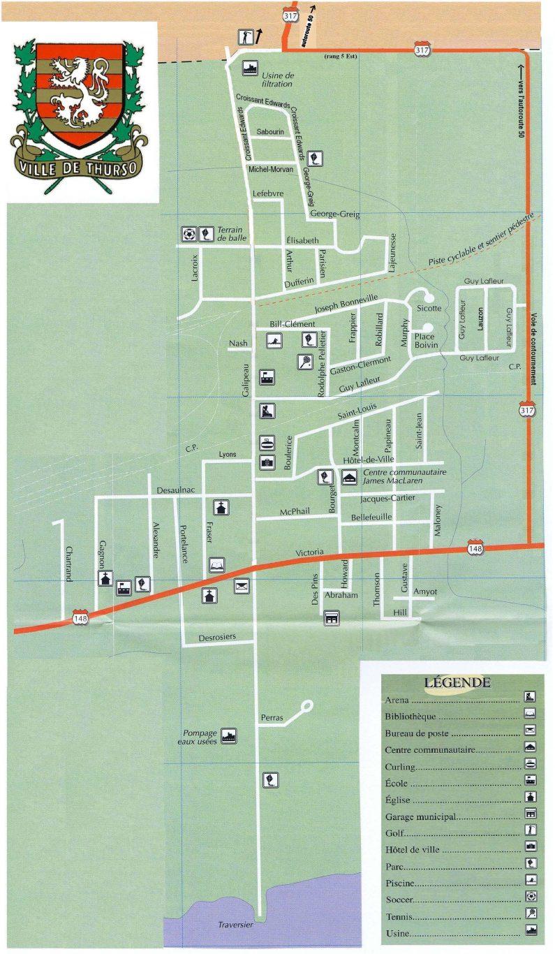 Carte des rues de Thurso
