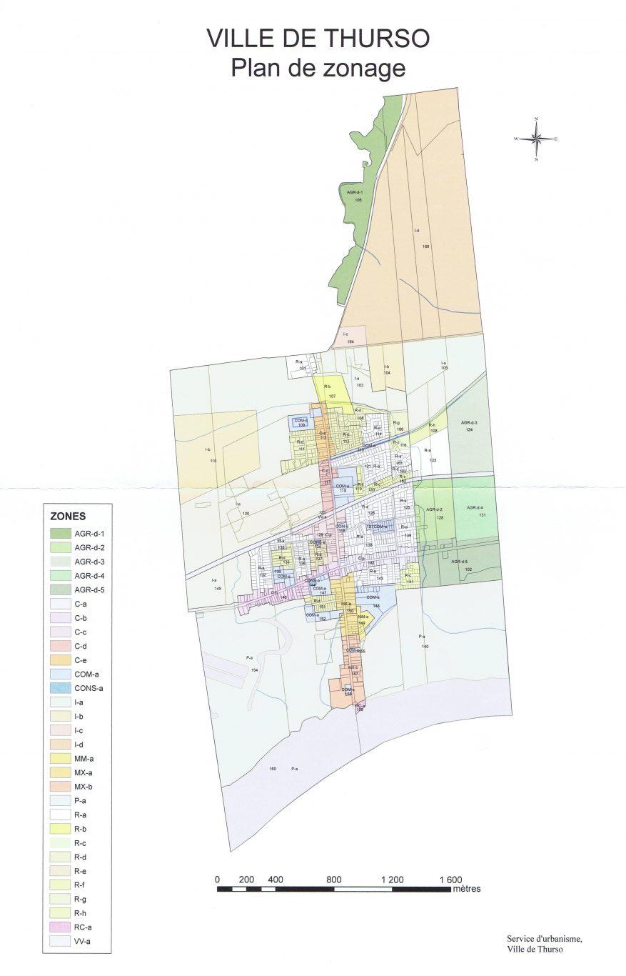 Plan de zonage de la ville de Thruso
