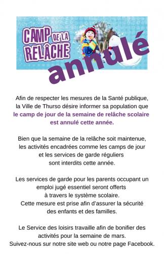camp annule 1 - Ville de Thurso